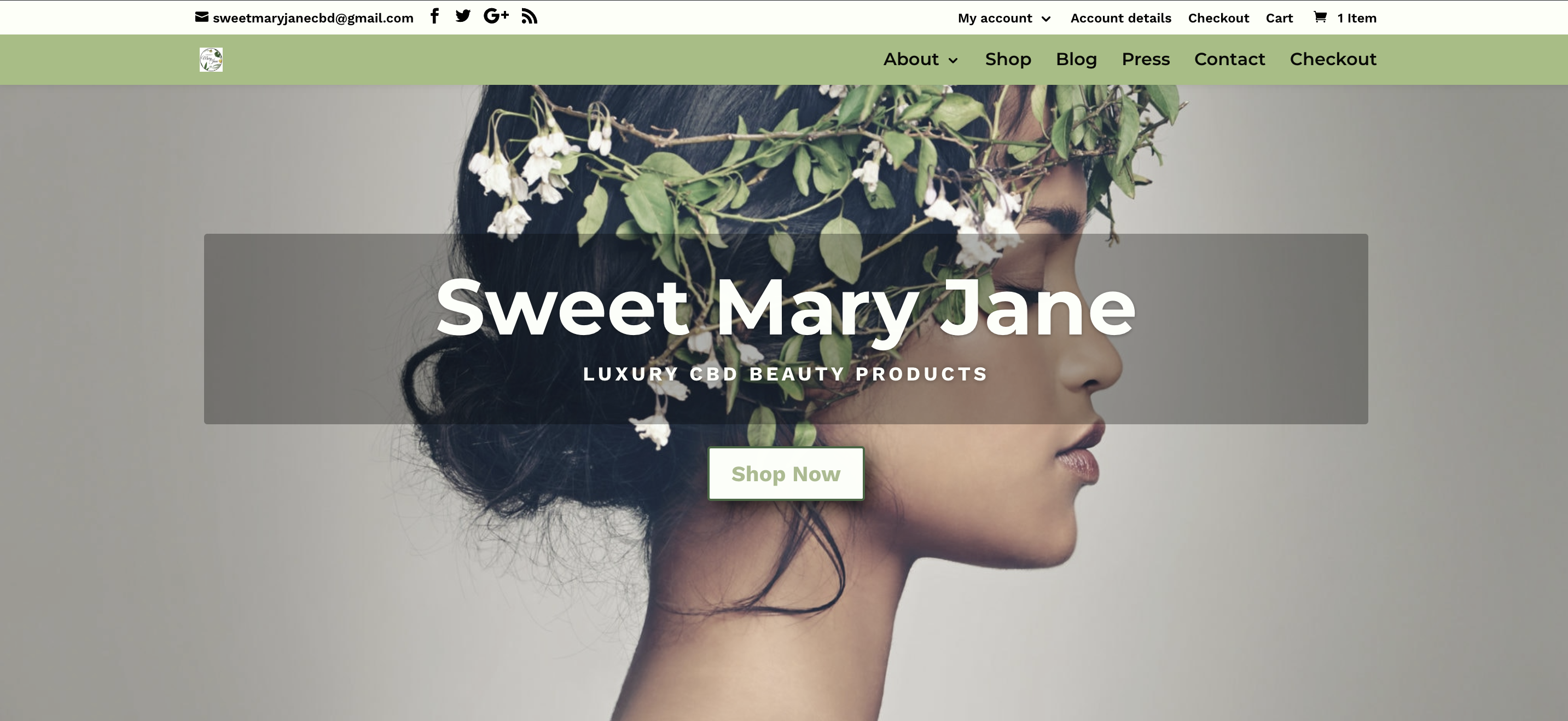 sweet mary jane desktop website